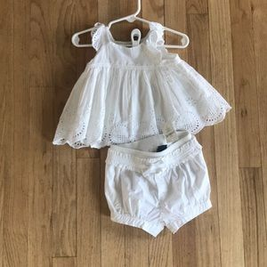 Baby gap lace dress with shorts NWT